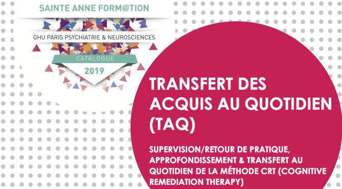 Formation TAQ, 4 et 5 février 2020