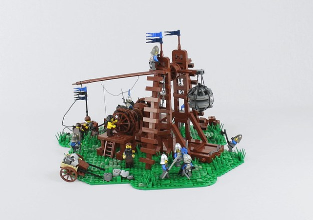 Working Lego Trebuchet Lays Siege To Your Cities The Brothers