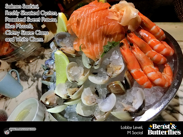 2016 Christmas Dining M Social Beast and Butterflies Christmas Seafood on ice