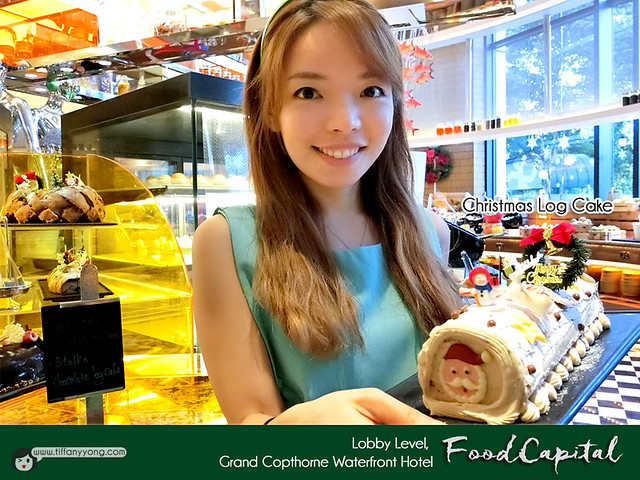 Grand Copthorne Waterfront Food Capital Christmas Log Cake Tiffany Yong