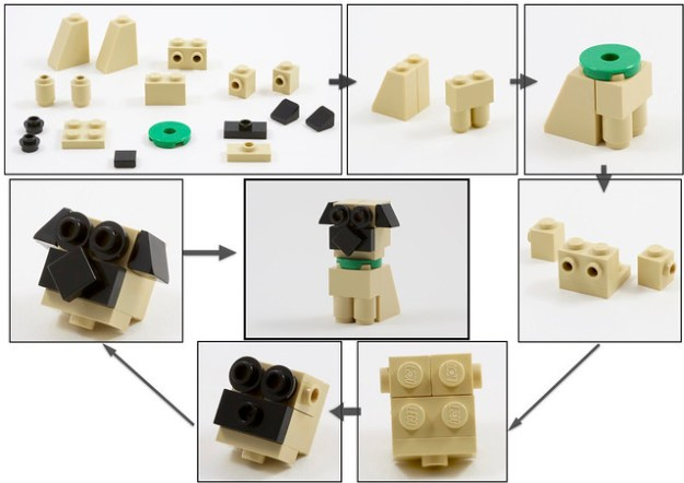 Build Your Own Lego Oliver Twist The Pug Dog Instructions The