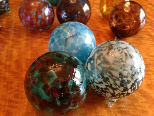 Glass Orbs made at Orbix Hot Glass