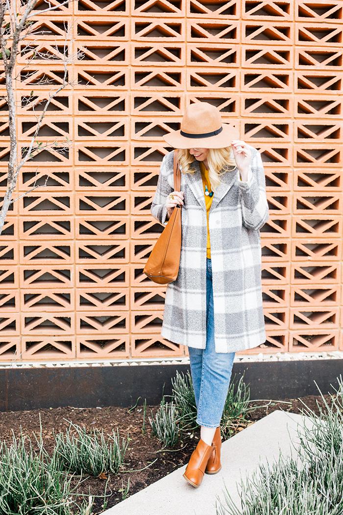 austin style blogger grey coat mustard sweater1
