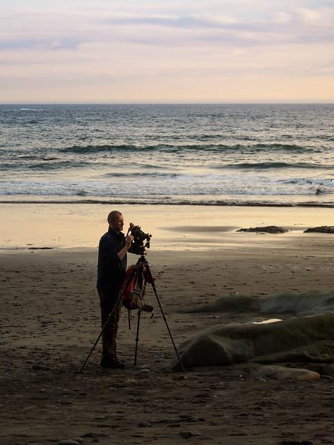 Jens fotografiert die Split Rocks