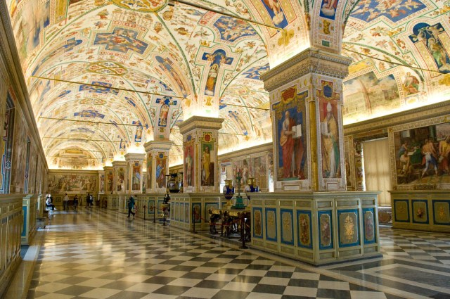 The Sistine Hall of the Vatican Library