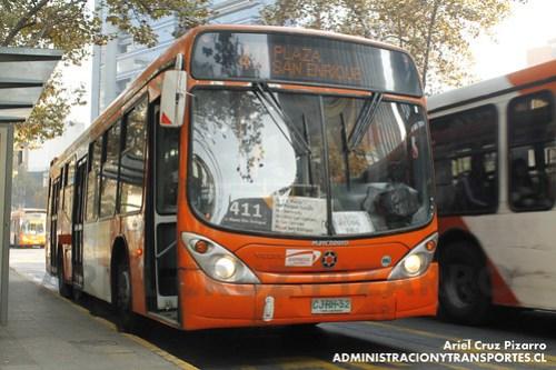 Transantiago - Express de Santiago Uno - Marcopolo Gran Viale / Volvo (CJRH52)