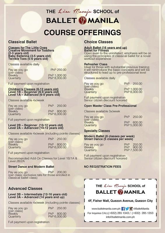 ballet manila course offerings
