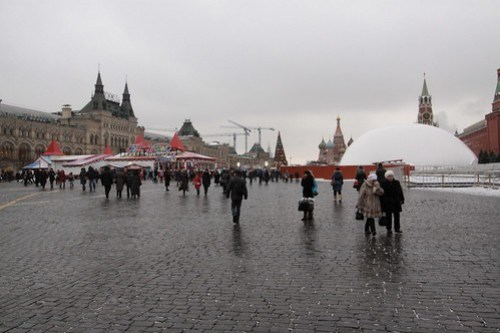 Grey day on Moscow's Red Square