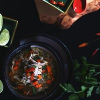 lemongrass chicken & rice soup