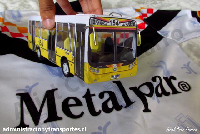 Micro Amarilla 154 | Metalpar Tronador - Mercedes Benz / WH2061