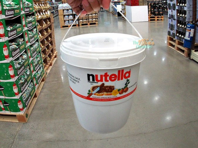 bucket of Nutella, around Php 1,200