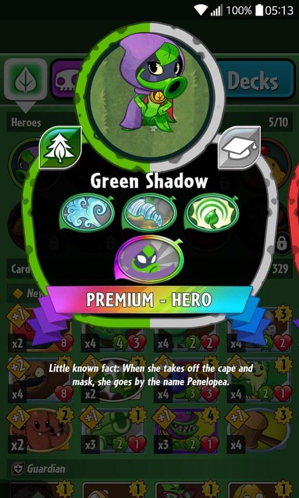 plant hero list green shadow