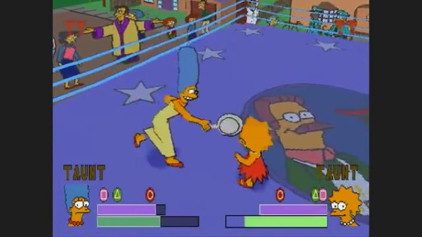 Simpsons Wrestling Lisa vs Marge