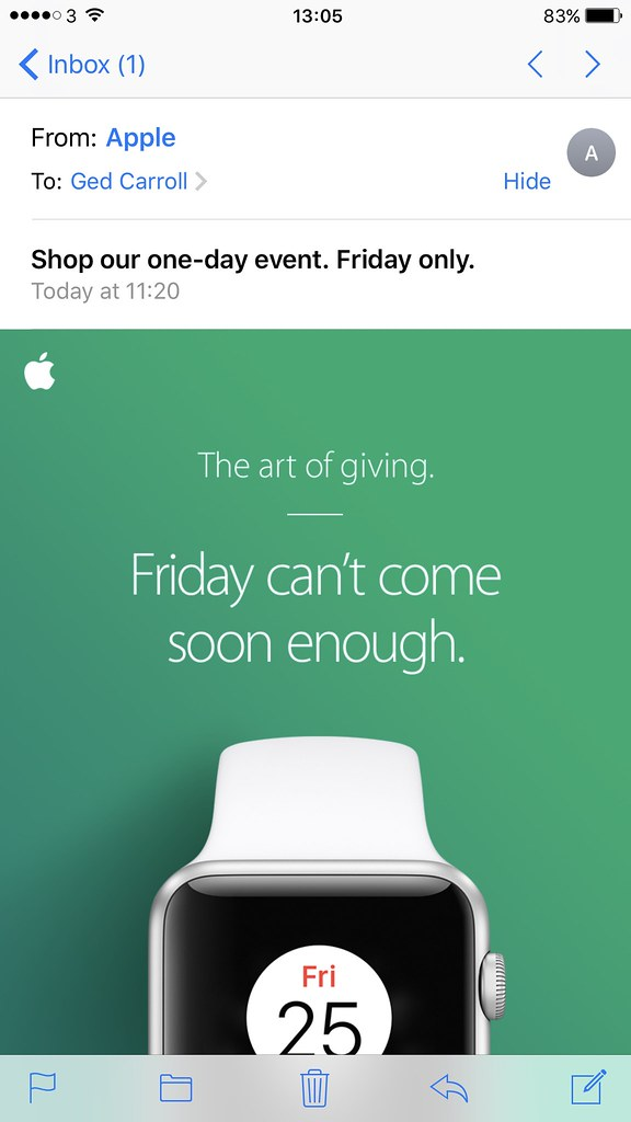 Black Friday mobile email