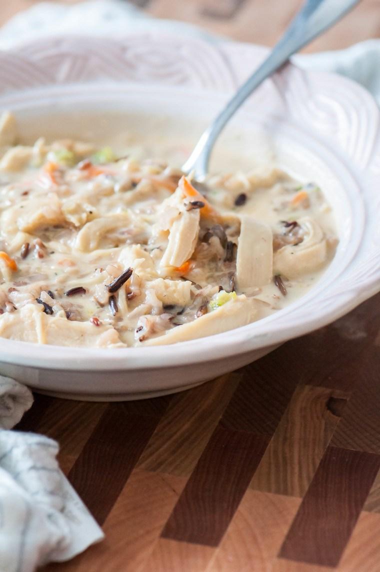 Cheesy Chicken Wild Rice Soup 1