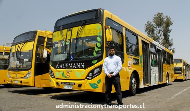 Bus Euro 6 Transantiago Conductor STP