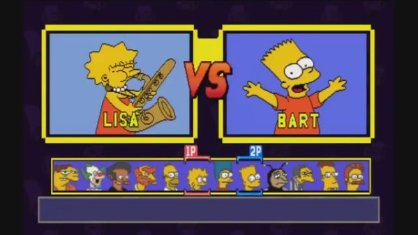 Simpsons Wrestling character select