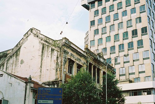 Worn building in KL