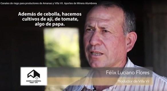 Félix Luciano Flores Productor de Villa Vil