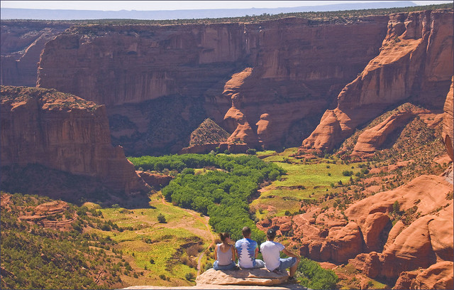 'Not a Care in the World' -- Vista at Canyon de Chelly National Monument (AZ) August 2013