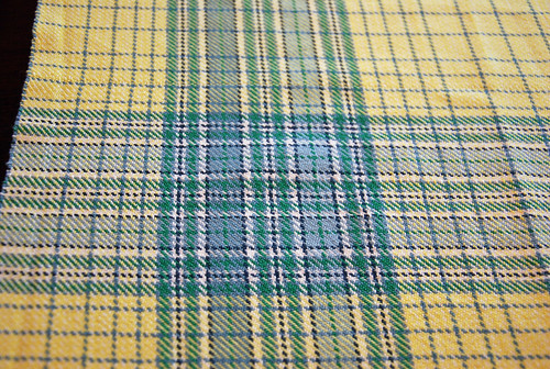 Handwoven cotton plaid