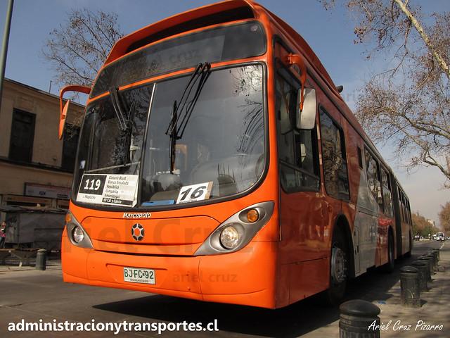 Transantiago - 119 | Alsacia | Marcopolo Gran Viale - Volvo