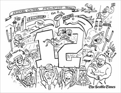 seahawks coloring page 12th man kids color your own super flickr