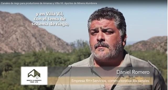 Daniel Romero Empresa RH+Servicios, constructora de los canales