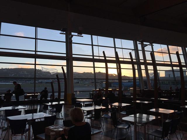 Sunset at Wellington Airport