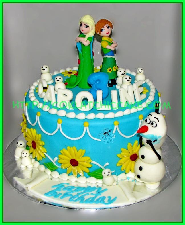Cake Frozen Fever   CAROLINE Jual Kue Ulang Tahun