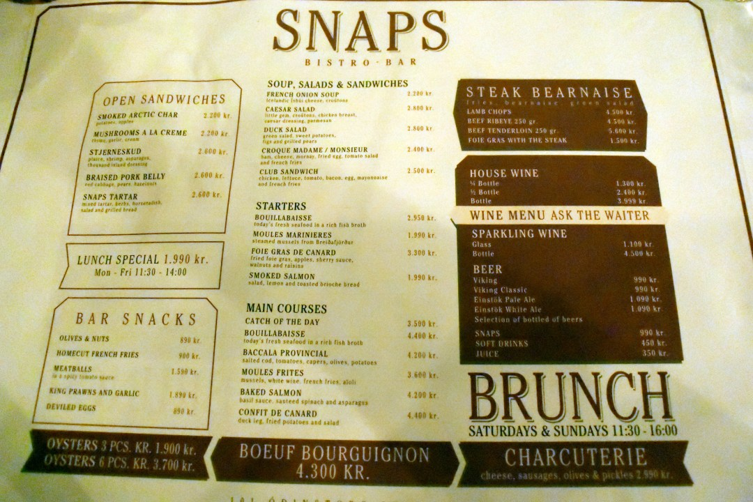 SNAPS - Bistro and Bar, Iceland