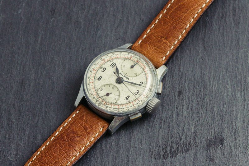 Vintage '40s Helbros chronograph watch #3