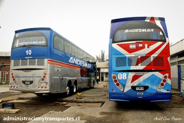 Andesmar Chile N° 10 y N° 08 | Metalsur Starbus 2 - Mercedes Benz / FYBK44 - FYBK43