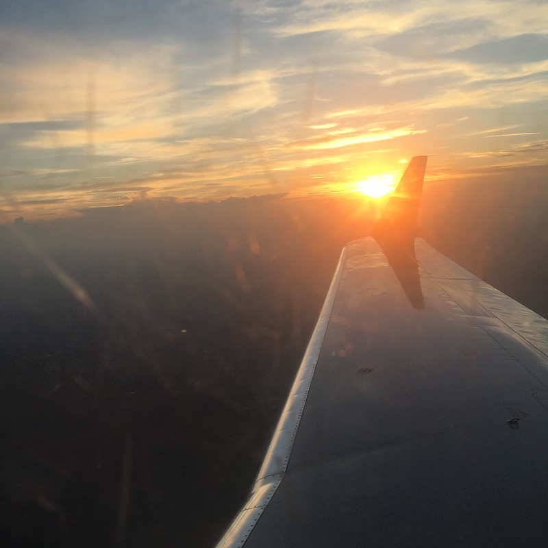first plane picture...sunset... BEAUTIFUL!