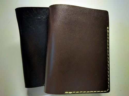 Galen Leatherworks #55 Leather Cover Black & Brown