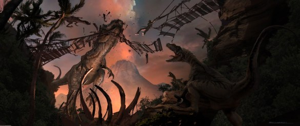JurassicWorld_IndominusRex_Attacking_Bridge por Seth Engstrom