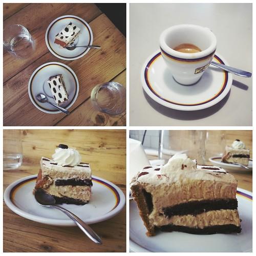 Caffè espresso e parfait al caffè
