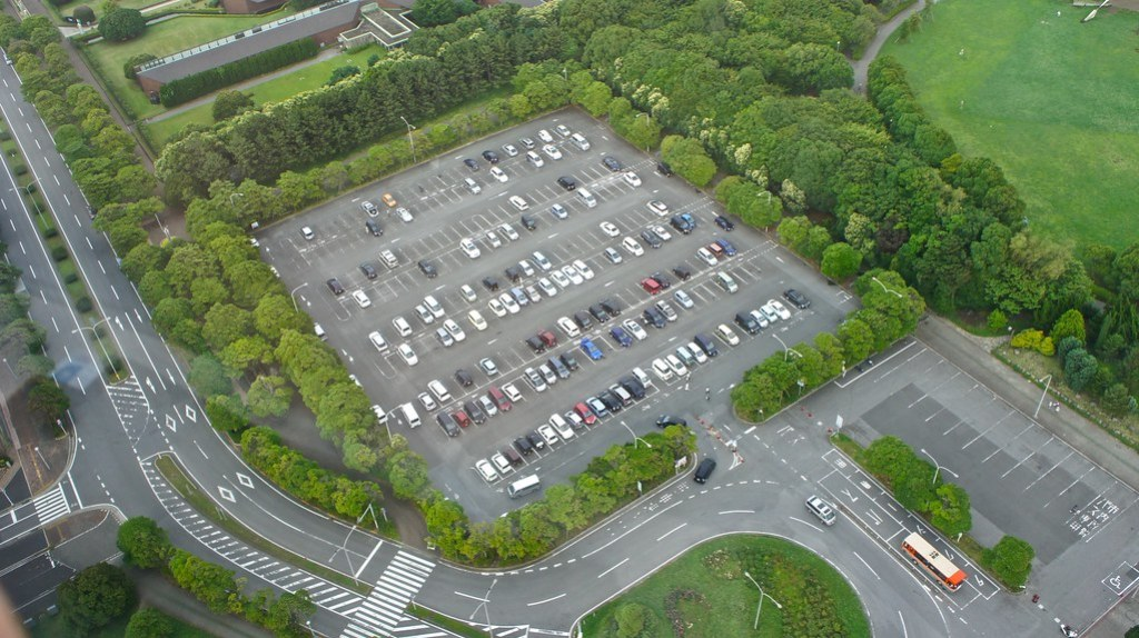 Chiba Port Tower Panoramic view Parking lot