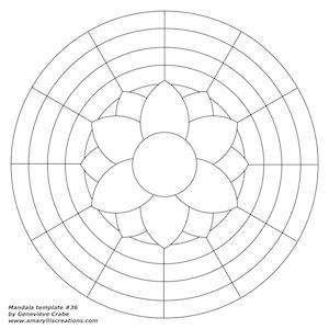 Mandala template 36