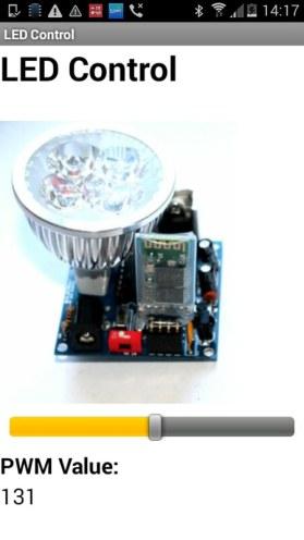LED control app interface