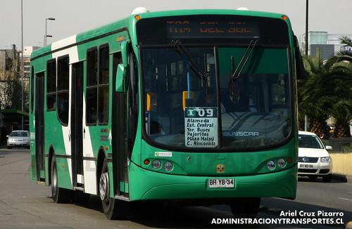 Transantiago - Buses Vule - Busscar Urbanuss Pluss / Mercedes Benz (BHYB34)
