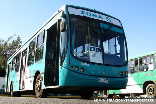 Transantiago - Metbus - Busscar Urbanuss Pluss / Mercedes Benz (XL1980)