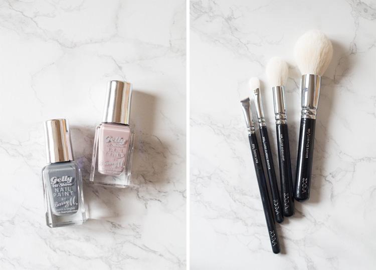 nail polish and brushes