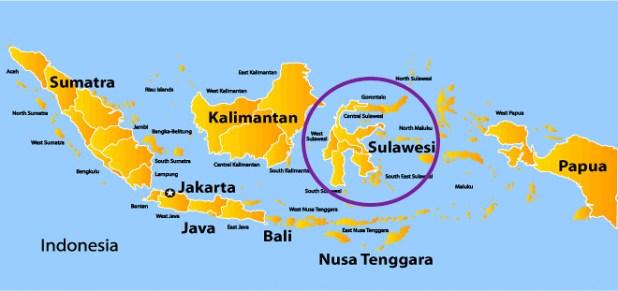 Mapa Indonesia Viaje