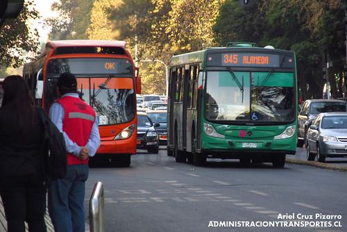 Transantiago (Fiscalización) - Buses Vule - Caio Mondego H / Mercedes Benz (CJRX72)