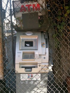 ATM through the fence