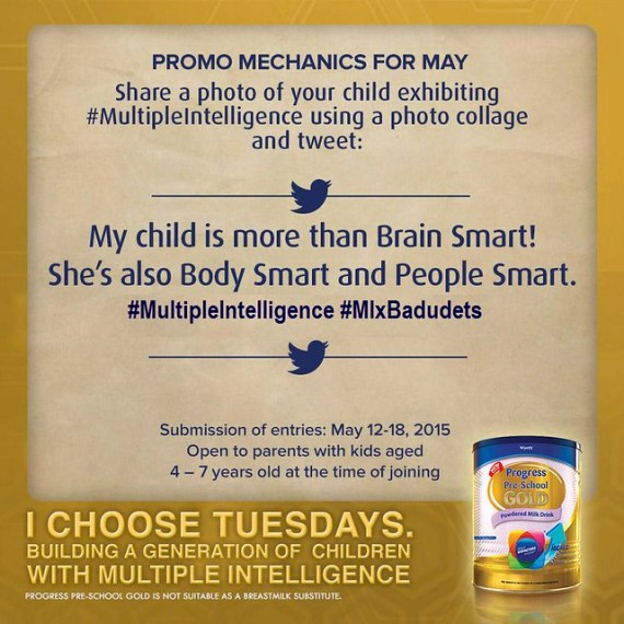 i choose multiple intelligence promo may