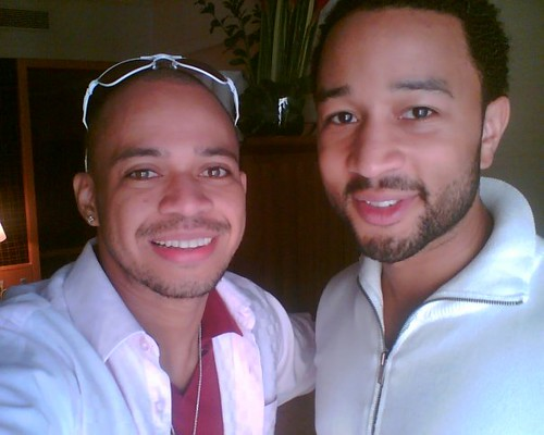 Luke Mejares with John legend