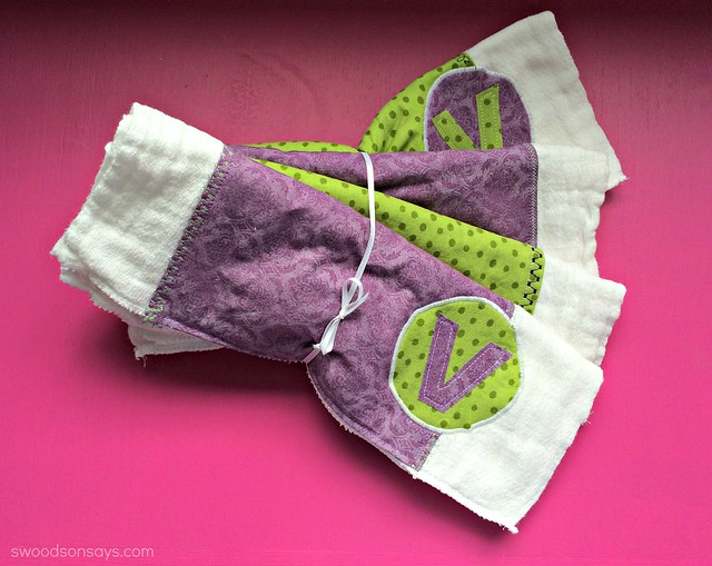 Embellished Burp Rags