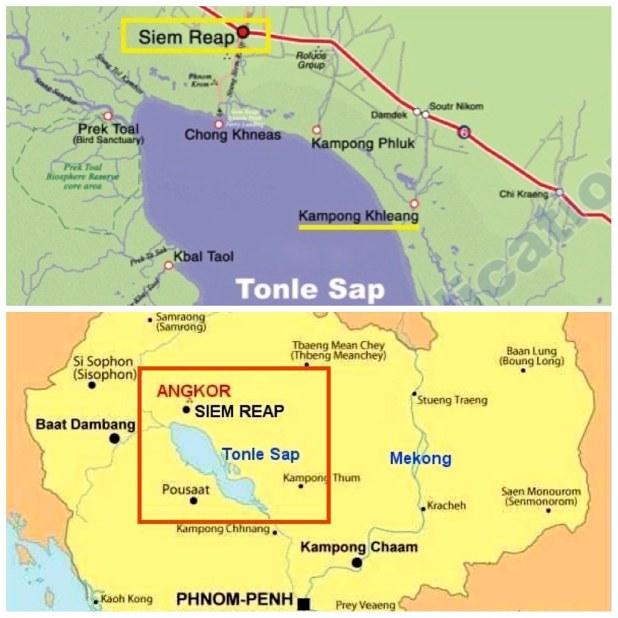 Mapa Tonle Sap